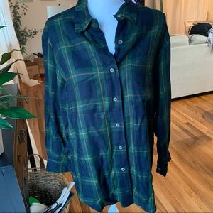 Ralph Lauren Plaid Top L